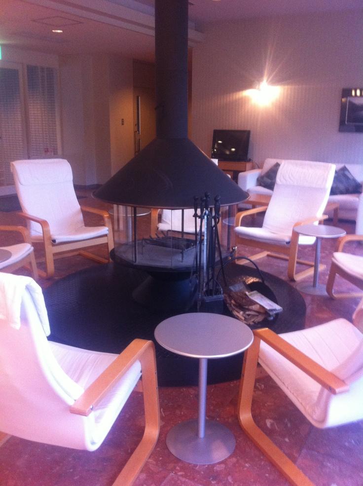 the lobby of a hotel HANAGORI