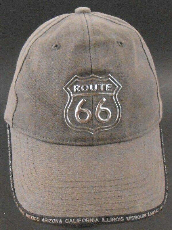 5ec5e7887c7ca Route 66 Sixty Six Highway Strapback Adjustable Cap Hat  Route66   BaseballCap