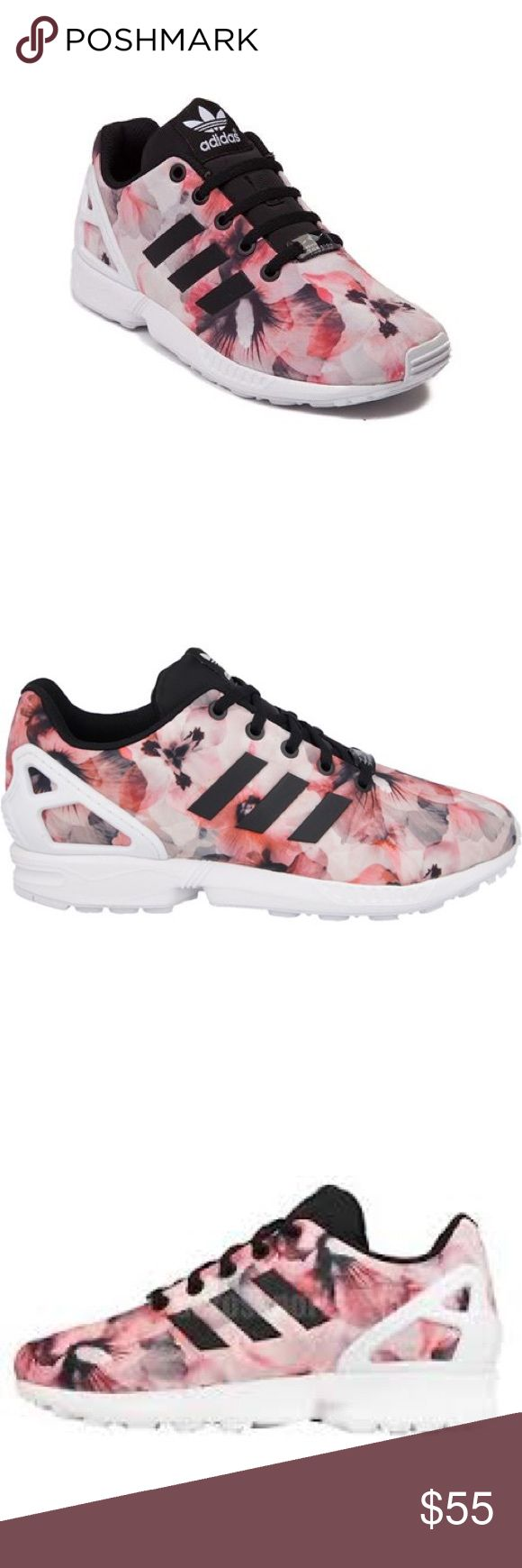 Adidas Zx flux floral In good condition, no box adidas Shoes Athletic Shoes
