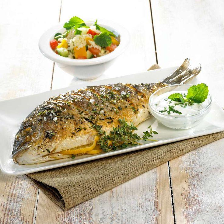 Gegrillte Dorade mit Couscous-Salat