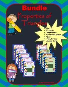 Save 50% on this Geometry bundle that includes every resource from the Properties of Triangles unit.