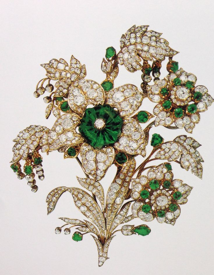 Emerald  and Diamond brooch, which can be converted to a tiara. Part if the Leuchtenberg inheritance.