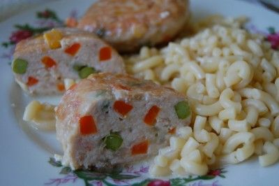 Котлеты куриные с овощами «Мозаика» : Вторые блюда