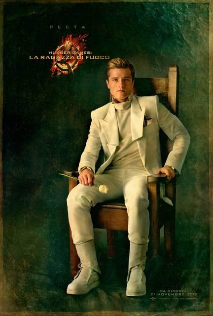 Peeta character poster #HungerGames #CatchingFire #LaRagazzaDiFuoco