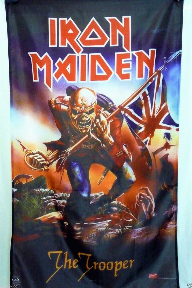 Iron Maiden The Trooper BIG 3X5 Polyester Poster Banner