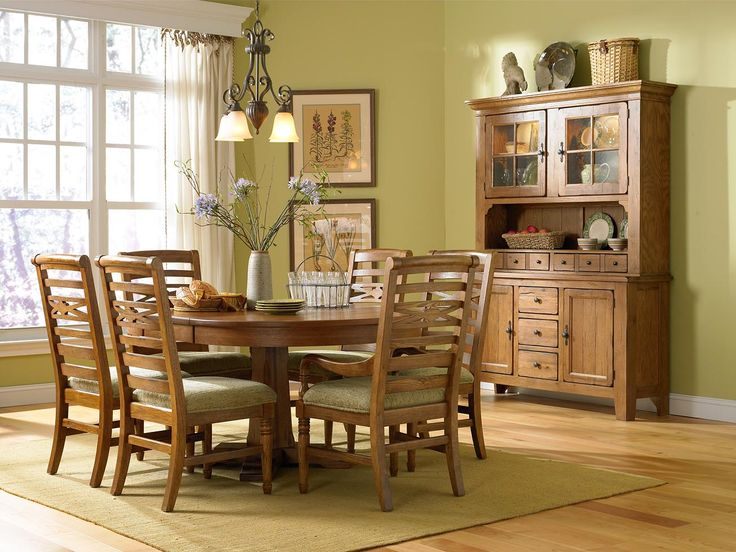 My Broyhill Attic Heirloom Dining Set Pedestool Table My