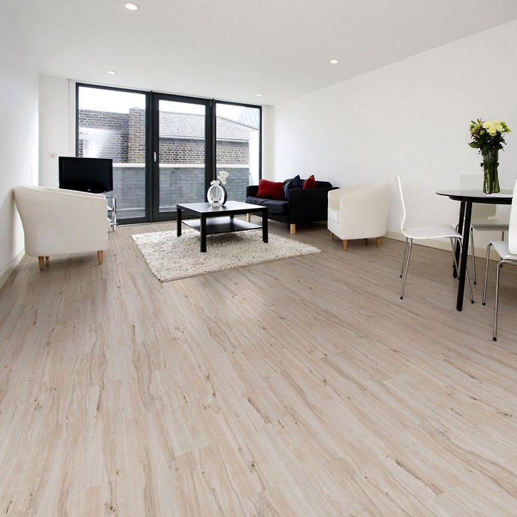 Plastic Flooring For Home: Allure Plus Vintage Maple White Resilient Vinyl Flooring