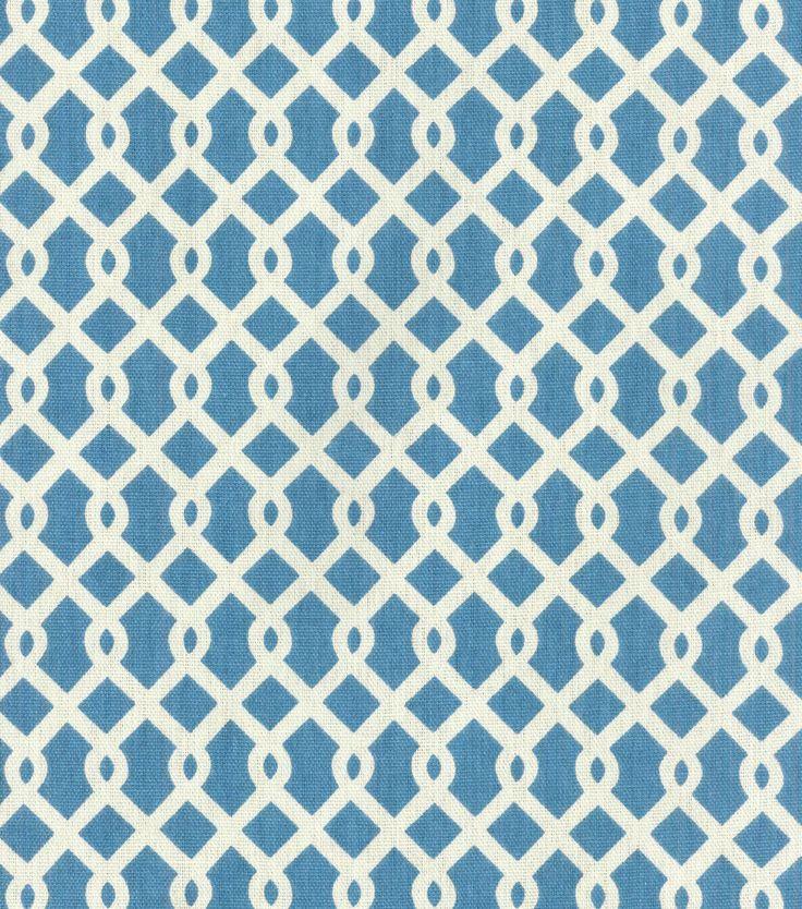 """P/K Lifestyles 45"""" Home Essentials Fabric-Lexington Lattice Adriatic"""