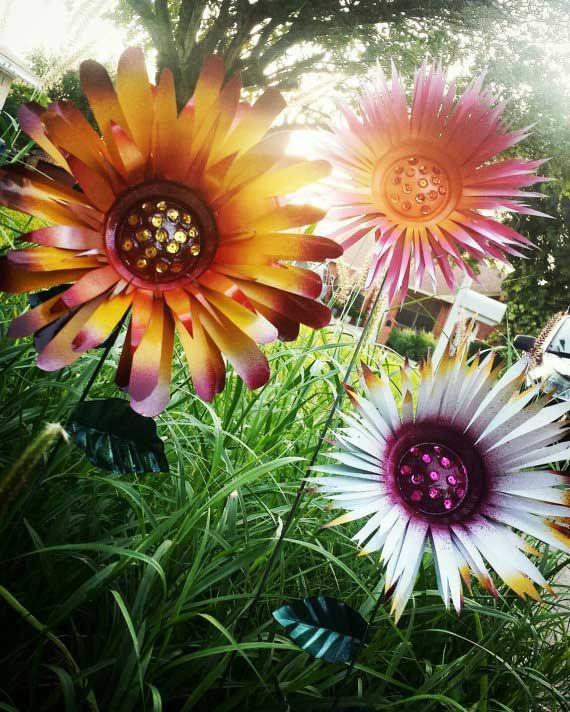 Chrysanthemum garden stake flowers by GardenDreamsDecor on Etsy