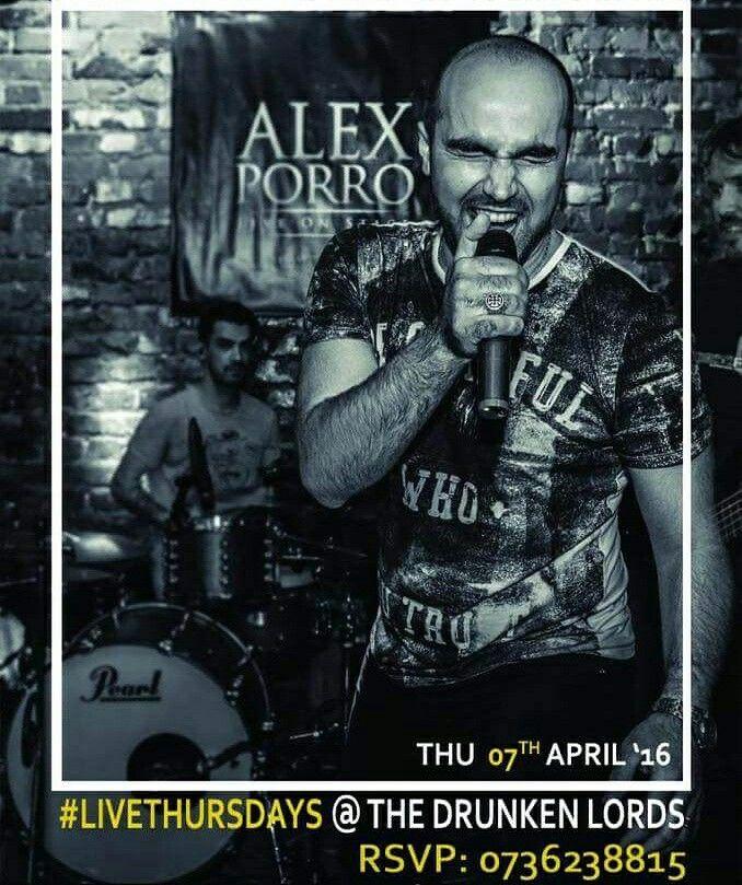 Joi, 07 Aprilie, orele 22:00, readucem în lumina reflectoarelor pe Alex Porro la The Drunken Lords. Intrarea Şelari nr. 3-5 Rezervări: 0736.238.815