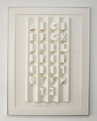 paper folded popup Alphabet #typography #design #paper_art