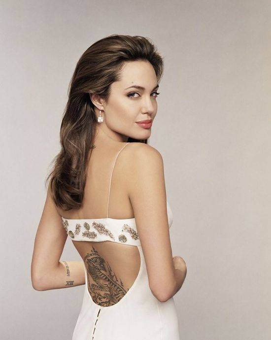Tattoo-making Inspiring Celebrity: Angelina Jolie: Angelina Jolie's Tattoo Design On Lower Back ~ Women Tattoos Inspiration