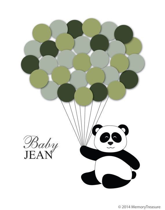 Baby Shower Guest Book Alternative Panda By MemoryTreasure On Etsy
