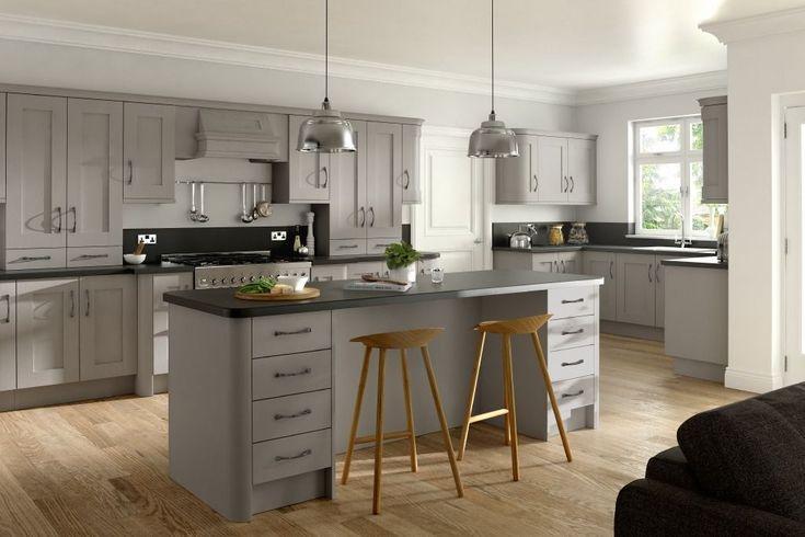 Buy Buckingham Stone Grey Ash Matt Finish Replacement Kitchen