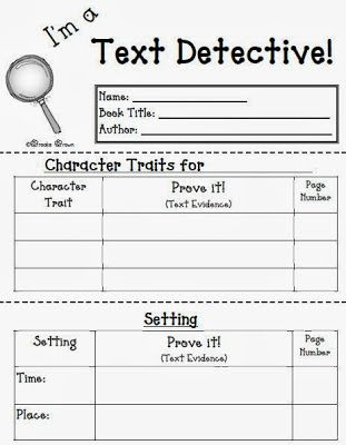 Fern Smith's Classroom Ideas!: Fern's Freebie Friday ~ I'm a Text Detective Reading Response Mini-Booklet