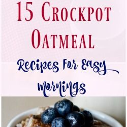 Crockpot oatmeal recipes make mornings easier. Cook your slow cooker overnight oatmeal while you sleep. Easy yummy crockpot overnight oatmeal.