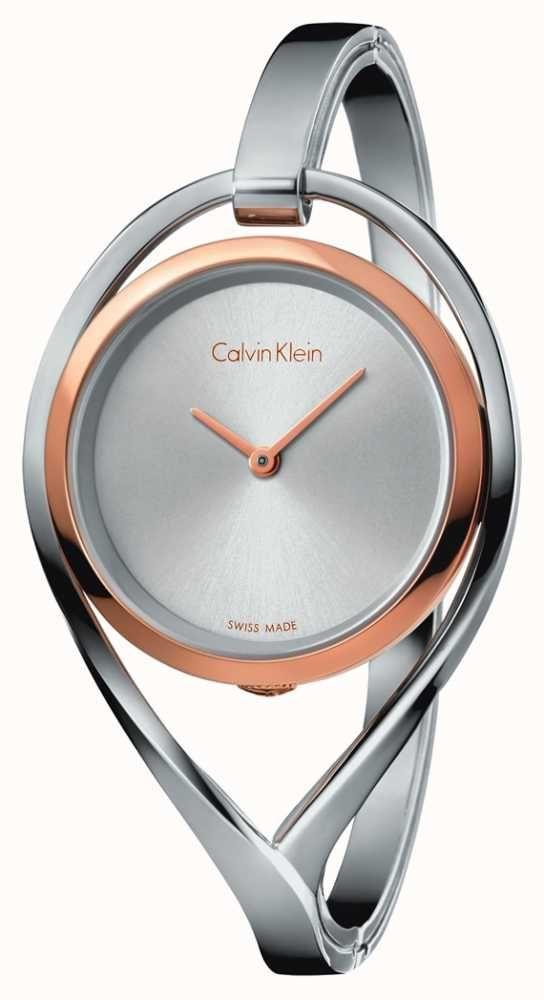38eed1da7 Calvin Klein Womens Light Small Stainless Steel Bangle Rose Gold ...