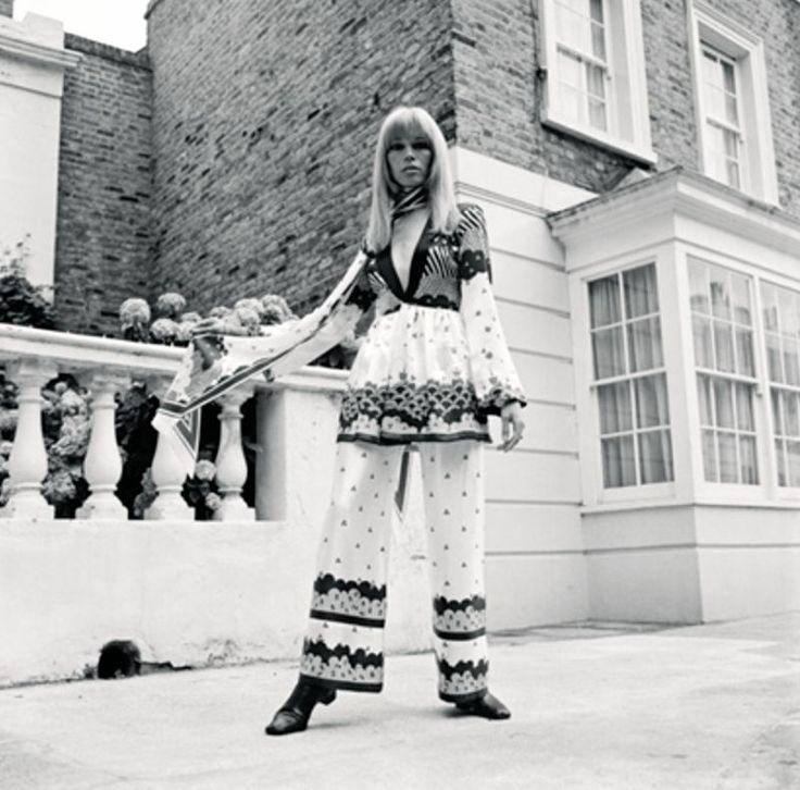Amanda Lear is wearing Ossie Clark, 1968