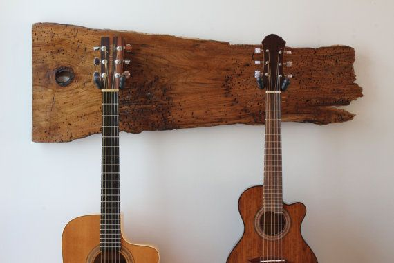 Beautiful Rustic Wood Guitar Hanger By Woodrustic On Etsy Vicccc Pinterest