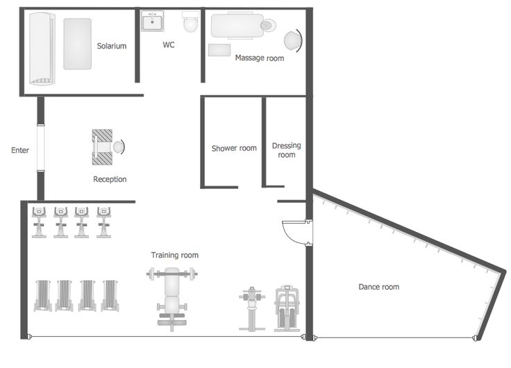7 Best Building Plans — Gym And Spa Area Plans Images On Pinterest