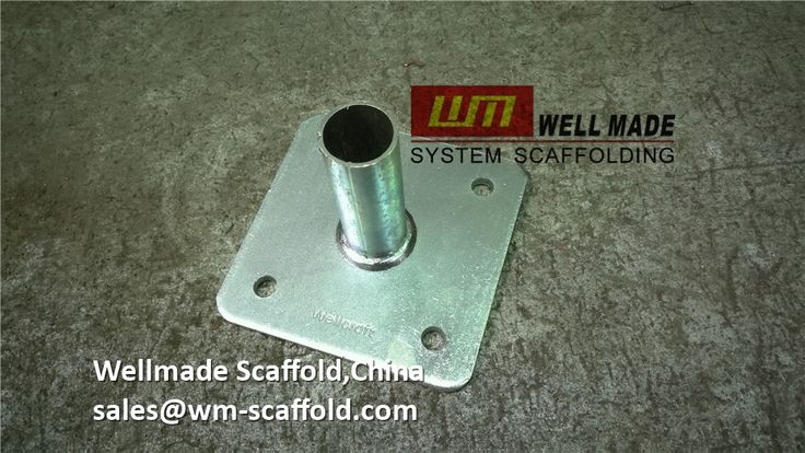 Welmade Scaffold,China:all types of scaffold Base Plate  Of Scaffolding Clamps for Tube and clamp scaffold system