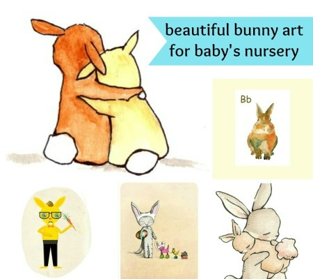 {bunnies would make a cute multiples nursery theme} Think Spring: Bunny Art for the Nursery Wall | Disney Baby