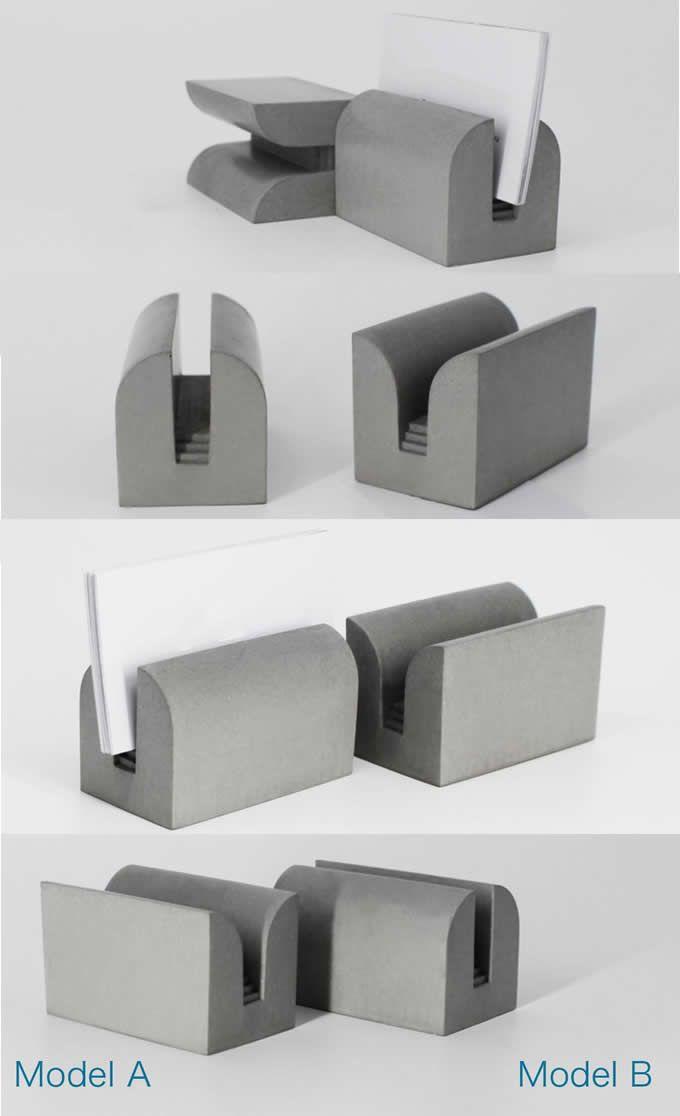 Handmade Diy Concrete Ideas Projects Geometry Concrete Pen Pencil Holder Business Card Ho Business Card Holder Display Card Holder Desk Shaped Business Cards