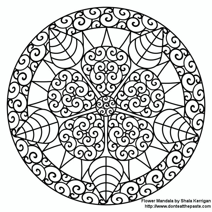 Mandalas Coloring Pages For The Adults