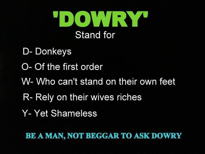 Full Form of Dowry!