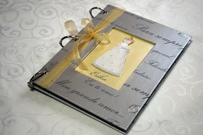 Agenda da noiva amarelo e prata - wedding