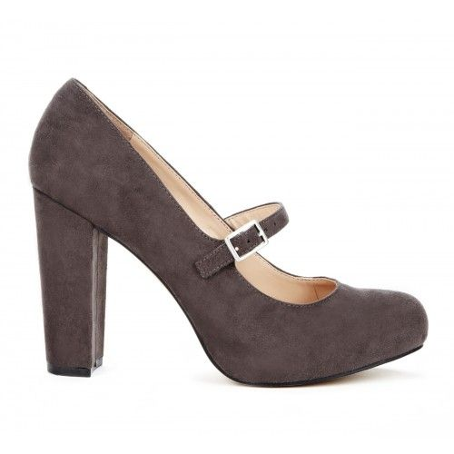 Whitney Closed Toe Heel in Charcoal.