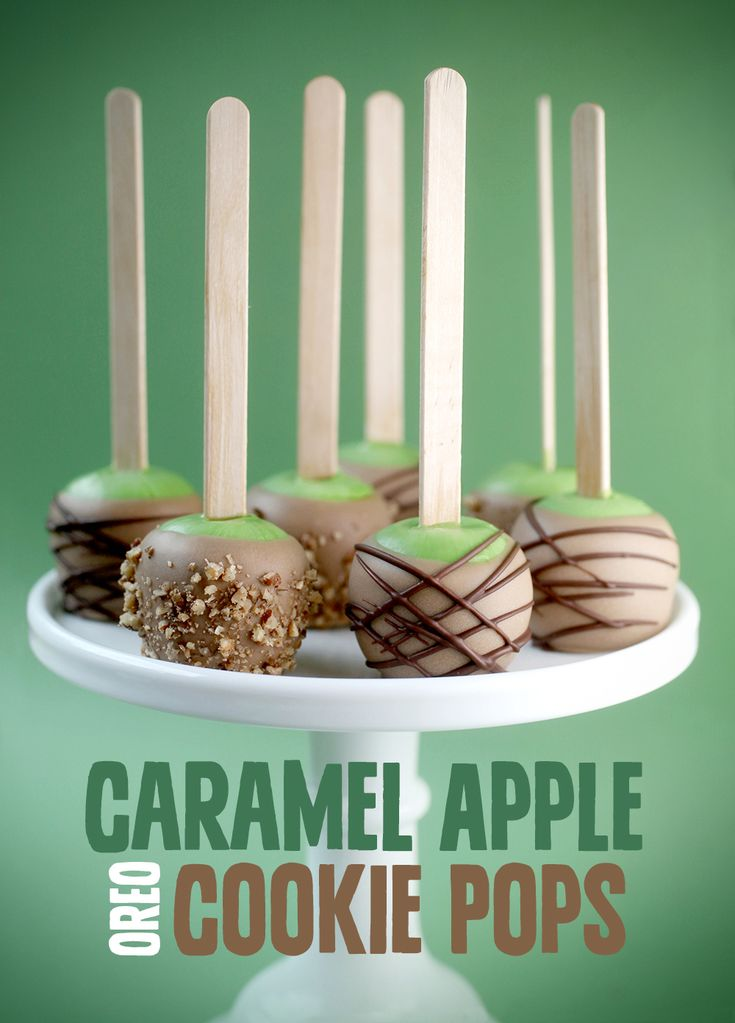 Caramel Apple Oreo Cookie Pops
