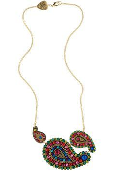 Paisley Rose Triple Drop Necklace - AW12