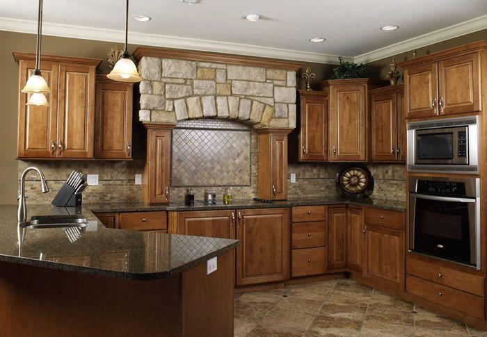 Cabinets Ginger Maple With Mocha Glaze Full Overlay
