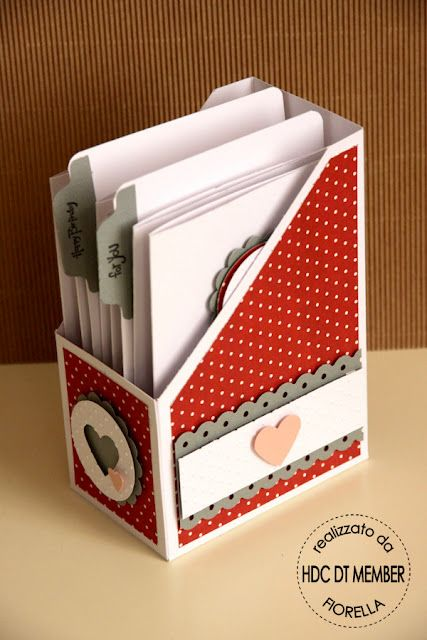Card holder with tutorial