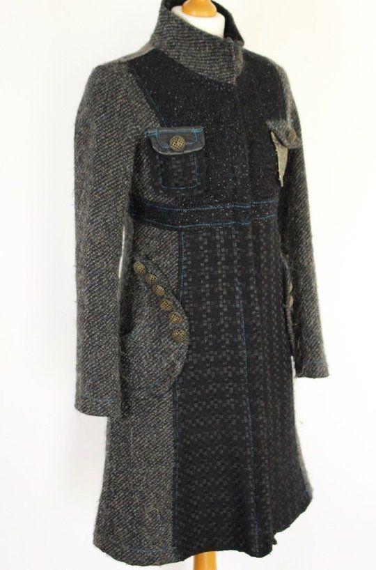 0a402c6a23cbfe DESIGUAL Ladies STUNNING Grey COAT   Jacket - Size Spanish 36 - UK 6 ...