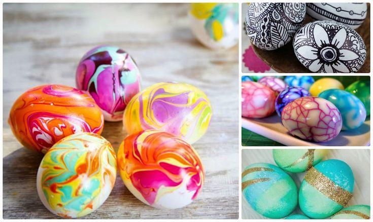 Το Πάσχα πλησιάζει και σίγουρα όλοι θα βάψετε αυγά. Πέρα από τα συνηθισμένα κόκκινα ή χρωματιστά αυγά υπάρχουν τεχνικές που μπορείτε και μόνοι σας να κάνετε για να έχετε ένα διαφορετικό αποτέλεσμα στα Πασχαλινά σας