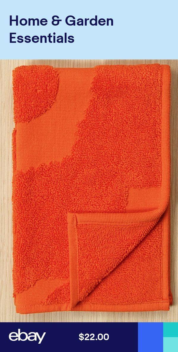 Marimekko Orange Unikko handfacegym towel 30x50cm …