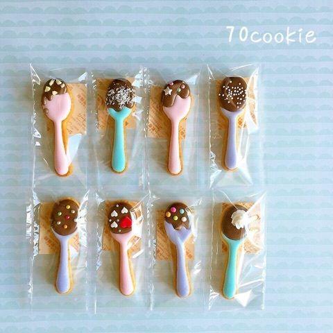 スプーンチョコの画像 | 70cookie ▷◁.。 猫好きが作るアイシングクッキー