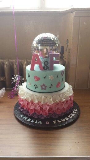 Cake Decorating Disco Ball : 17 Best images about Disco cakes on Pinterest