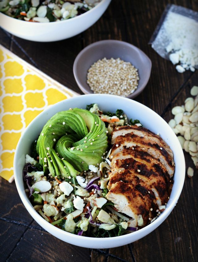 Wild Greens & Quinoa Grain Bowl | The Foodie Physician