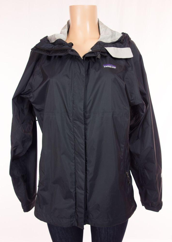 PATAGONIA Torrentshell Jacket L Large lack Nylon H2NO Waterproof Rain Coat #Patagonia #Raincoat