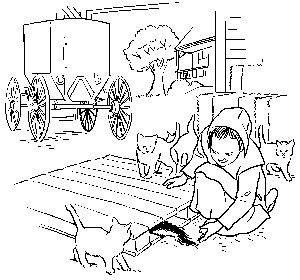 lily lapp skunk coloring page - Amish Children Coloring Book Pages