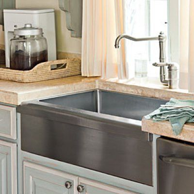 Farm-Style Sink for a kid-friendly kitchen.