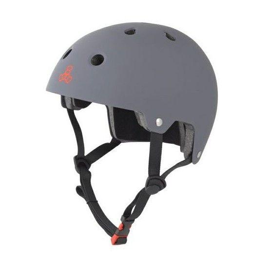 Triple Eight Brainsaver Dual Certified Skateboard Helmet - Gun Matte