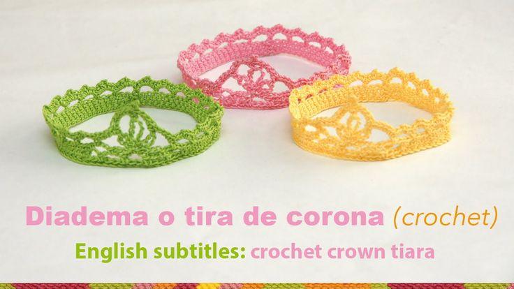 Mini video tutorial 19 diadema o tiara en forma de - Diademas a crochet ...