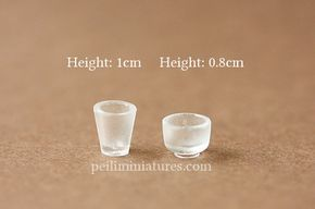 Using UV Resin to make dollhouse miniature cups and glasses