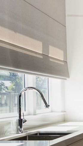 roman blind in kitchen - Designer Kitchen Blinds
