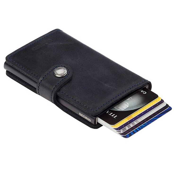 Personal Edge : Secrid MV-BLACK Mini Wallet - Vintage Black