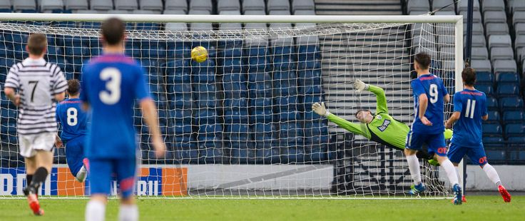 Queen's Park's keeper Andy Murphy can't prevent Kilmarnock's second goal during the IRN-BRU Cup game between Queen's Park and Kilmarnock Colts